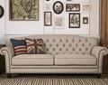 Classic fabric 3 seat sofa