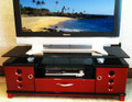 Red and black TV unit