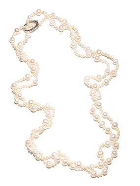 long loop freshwater pearl necklace