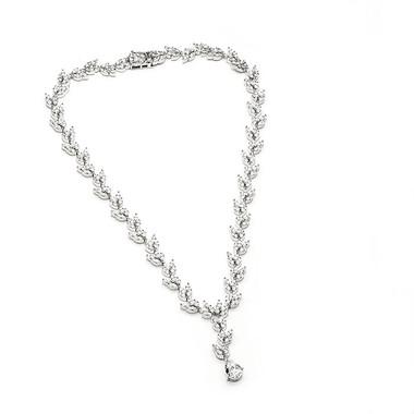 Cubic Zirconia and diamante bridal necklace