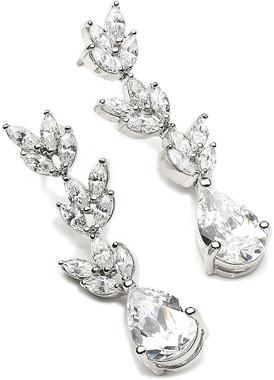 Evangeline cubic zirconia and diamante bridal earrings