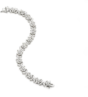 Candice cubic zirconia and diamante wedding bracelet