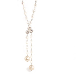 long drop pearl bridal necklace
