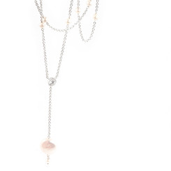 Long pearl drop bridal necklace