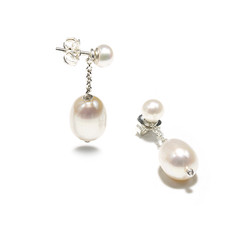 detachable pearl drop earrings