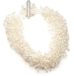 Allesandra Floating Pearl Necklace