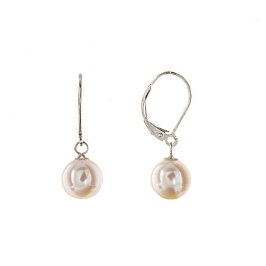 Classic freshwater pearl drop earrings lovely as wedding jewellery