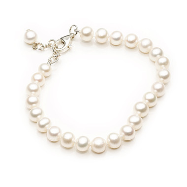 girls first pretty freshwater pearl bracelet lovely for bridesmaids