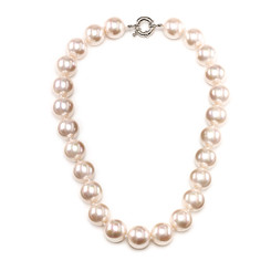Benita Mother of Pearl 16mm pale pink pearl necklace