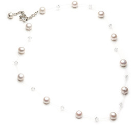 Felicia Floating Pearl Bridal Necklace