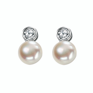 Adoria freshwater pearl wedding earrings