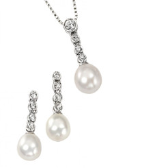 Rosella freshwater pearl pendant set ideal for bridesmaids jewellery