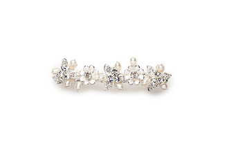 Vintage style daisy pearl hair slide