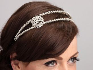Emelie side-styled bridal headband.