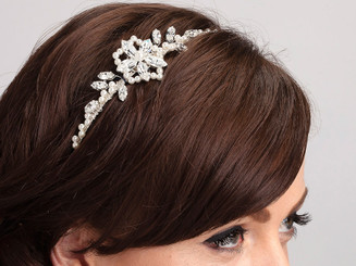 The Ava side styled vintage feel bridal hairband