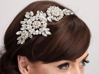Gorgeous side styled wedding headband