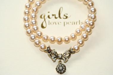 Imelda vintage inspired pearl bridal necklace 3