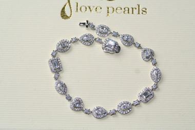 Felicity fine diamante bridal jewellery bracelet in smaller sizes
