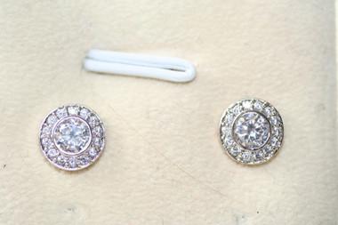 Clara vintage detailed diamante stud bridal earrings