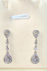 Chiara Dainty Diamante Wedding Earrings