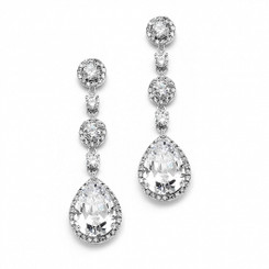 Angelica diamante drop bridal earrings £64.95