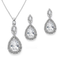 Diamante bridal necklace set £94.95