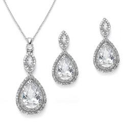 Diamante bridal necklace set £94.95