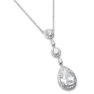 Diamante pendant gorgeous as bridal jewellery £49.95