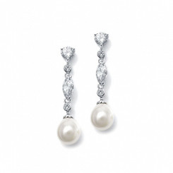 Diamante and pearl drop wedding earrings £37.95