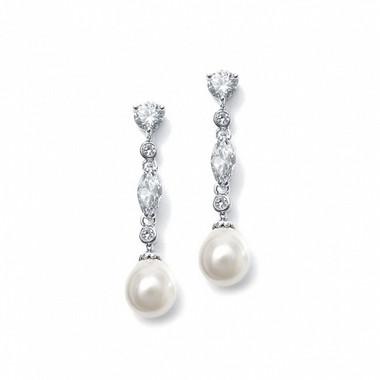 Diamante and pearl drop wedding earrings £37.95