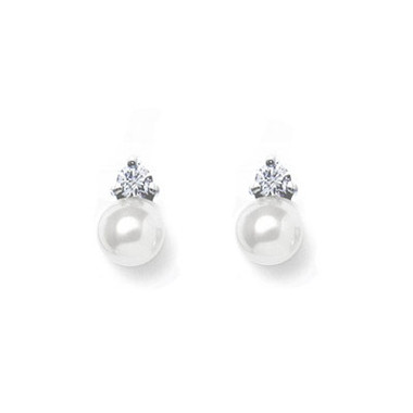 Ailsa classic pearl and diamante bridal earrings