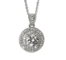 Michaela vintage styled diamante pendant