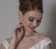Natasha pearl and diamante drop earrings