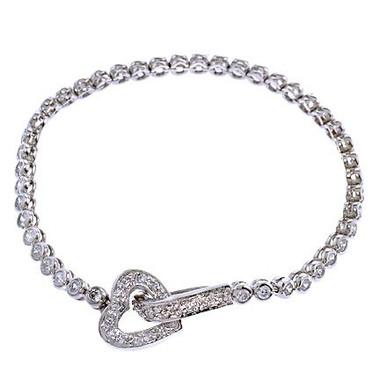 Stefania heart diamante wedding bracelet