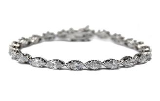 Lily diamante bracelet lovely as a bridal bracelet or evening jewellery