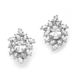 Ivana cluster diamante bridal earrings