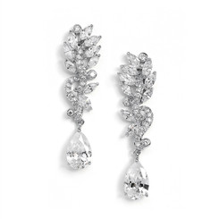 Ashton long drop glamorous diamante earrings
