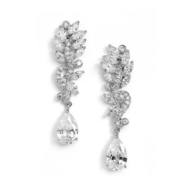 Ashton long drop glamorous diamante earrings