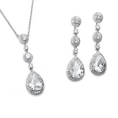 Angelica cubic zirconia necklace set perfect for special occasions and weddings