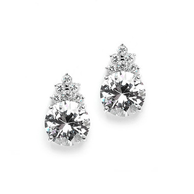 Eliza simulated diamond earrings perfect for evening or bridal jewellery