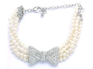multi-stand pearl and diamante bracelet lovely for bridal jewellery