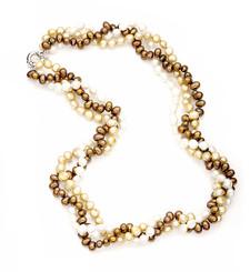Sadie Brown Freshwater Cultured Pearl Necklace