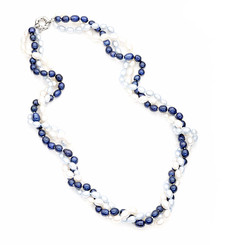 Tasha Blue Freshwater Pearl Necklace