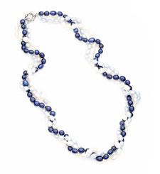 Tasha Blue Freshwater Pearl Necklace