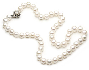 Eva Freshwater Pearl Bridal Necklace