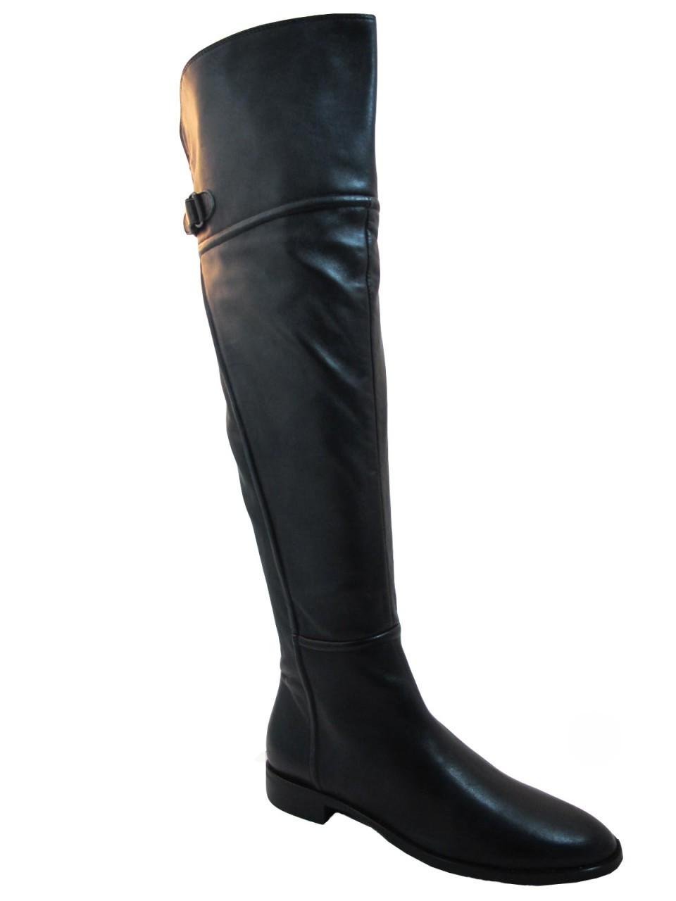 s davinci italian leather 2551 flat knee high boots