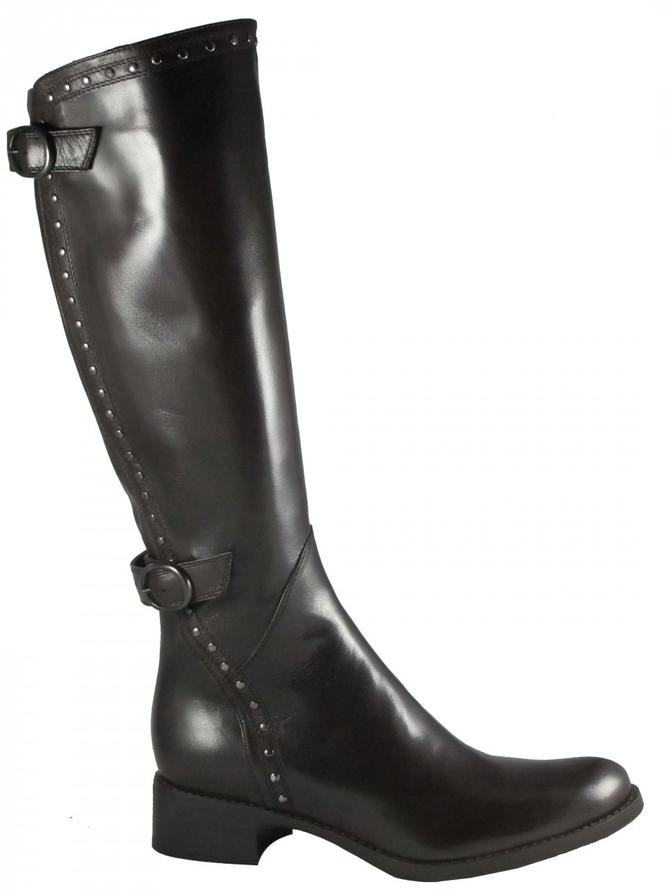s flat leather italian knee high boots 601218 by le