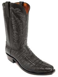 Men's Lucchese 1883 N1127 Boot Black Hornbacck Tai Jersey Calf