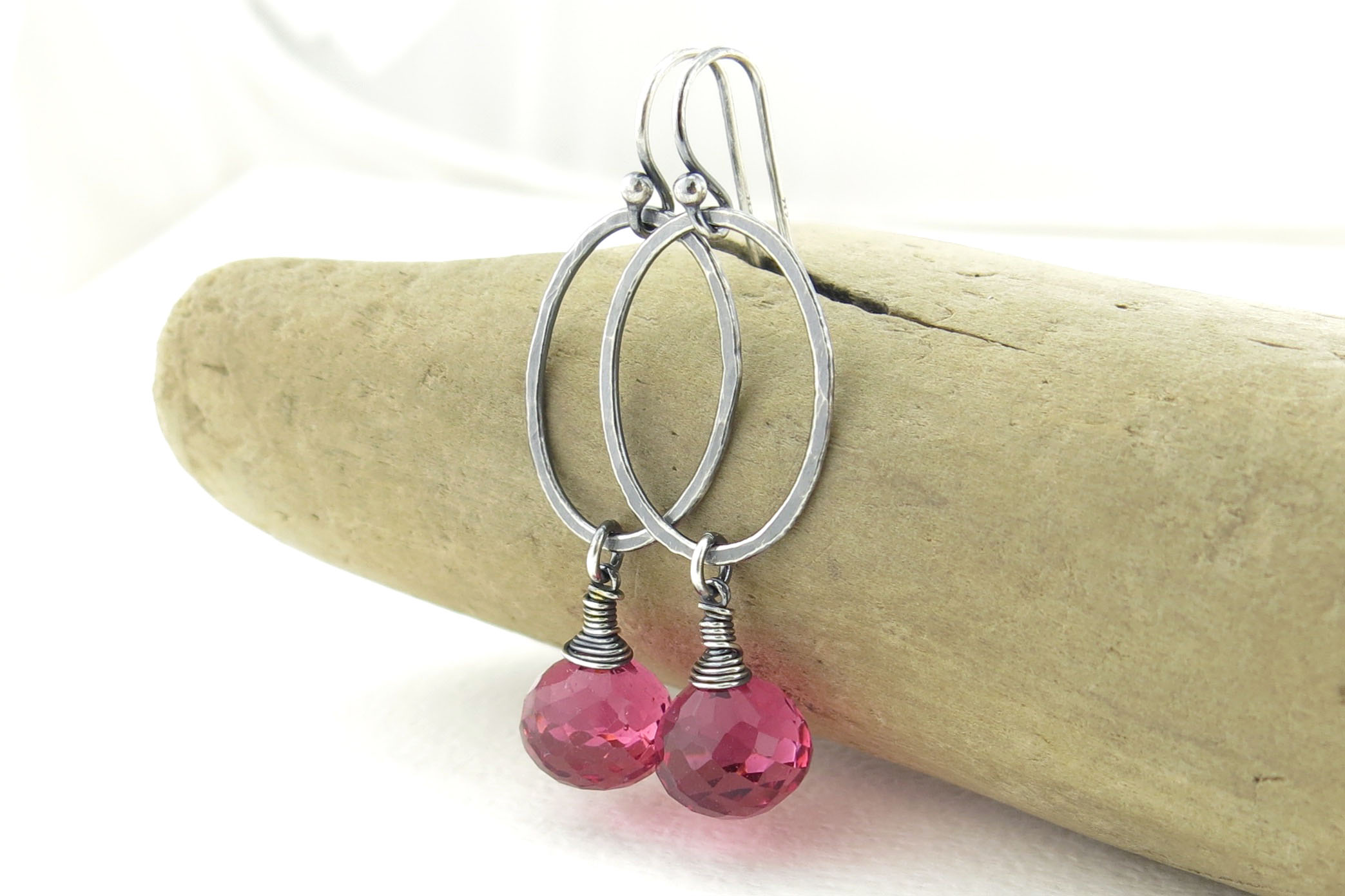 Pink Watermelon Quartz (pictured Above) And Ruby Quartz, Both With Sterling  Silver