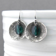 Contrast Earrings Emerald